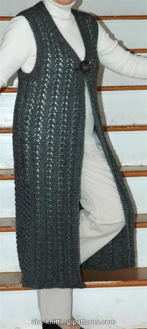 free pattern vest abc knitting patterns long lace vest i would have to