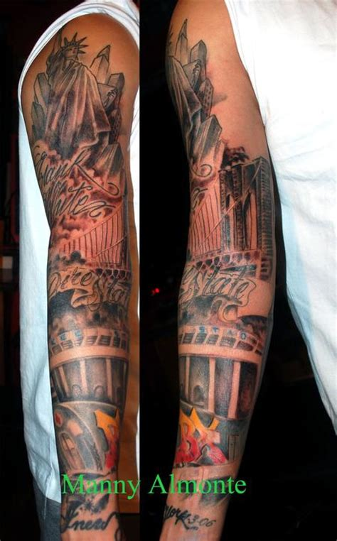 bronx tattoos tattoos tattoos black and gray bronx sleeve