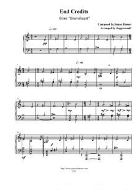 tutorial piano braveheart braveheart james d arcy and sheet music on pinterest