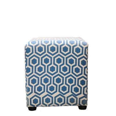 blue and white ottoman geometric blue and white ottoman furniture rental from