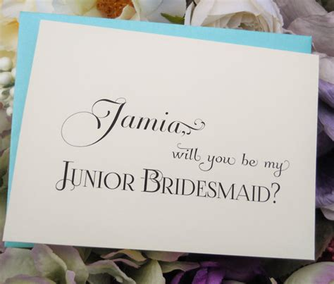 junior bridesmaid writing journal books personalized will you be my junior bridesmaid card wedding
