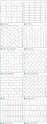 Different Ways To Lay Floor Tile by Pattern Potential Subway Backsplash Tile Centsational
