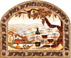 Kitchen Tile Murals Tile Art Backsplashes mosaic tile mirror frame tile backsplash mural frame