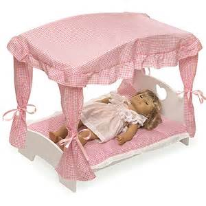 Doll Canopy Bed Bedding Badger Basket Doll Canopy Bed With Pink Gingham Bedding