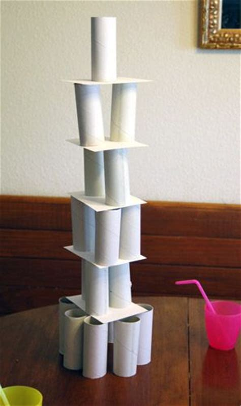 How To Make A Free Standing Paper Tower - toilet paper roll architecture activity toilets the