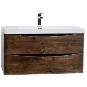 Buy merida 35 5 quot wall mount bathroom vanity in rosewood tn