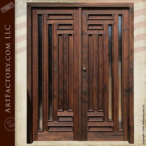 exterior wood doors with glass panels 197 best images about crafted doors on