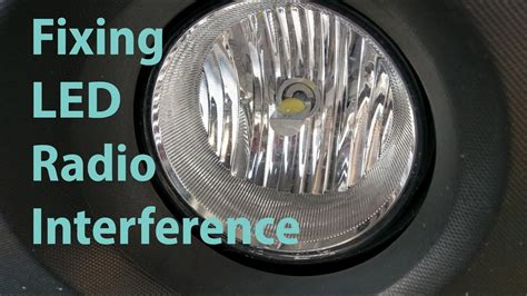 led lights radio interference filter fixing led headlight radio interference youtube