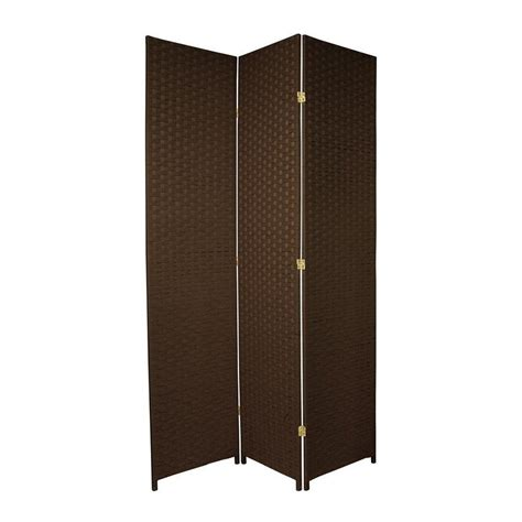 lowes room dividers shop furniture room dividers 3 panel mocha folding indoor privacy screen at lowes