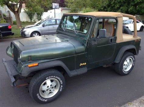 1995 jeep wrangler soft top for sale find used 1995 jeep wrangler grande edition
