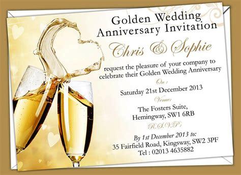 wedding invitation template sle free wedding anniversary invitation templates wedding invitations golden anniversary invi with