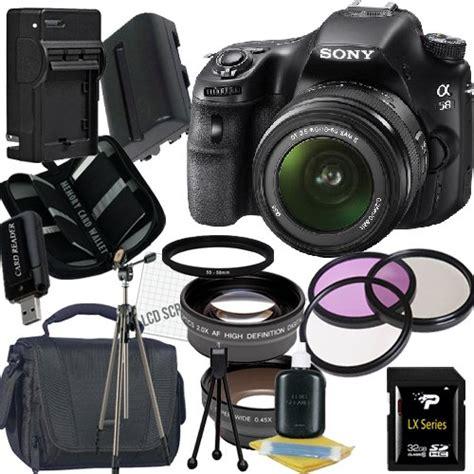 Kamera Sony Slt A58 Lens 18 55mm sony alpha slt a58k slt a58 dslr digital with 18 55mm lens 32gb package 2 gracedyerahgi