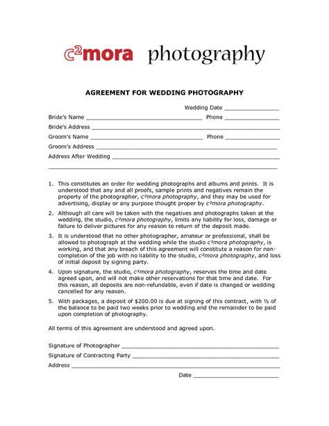 100 photogapher contract sample wedding photography