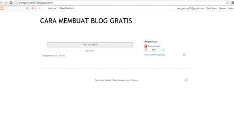 Cara Membuat Blog Gratis Dan Mudah Untuk Pemula | cara membuat blog gratis dan mudah untuk pemula di blogger