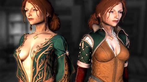 skyrim hot armor replacer witcher outfits female body replacer skyrim console