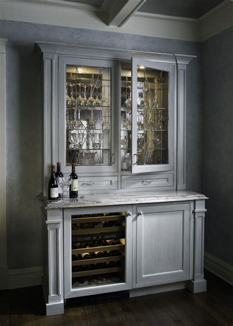 built in wine cooler cabinet a standalone cabinet in white stained carved wood holds