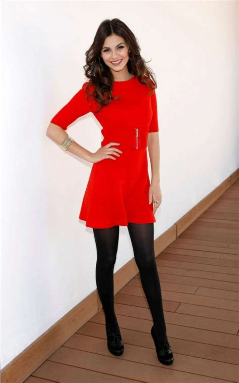 Nylon outfit dresses victoria justice legs women beautiful girls