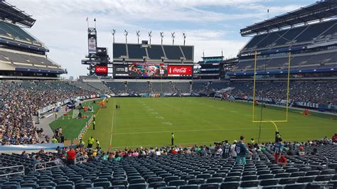 lincoln sections lincoln financial field section 109 philadelphia eagles