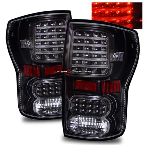 2010 toyota tundra tail light bulb tundra 2007 2010 led tail lights black