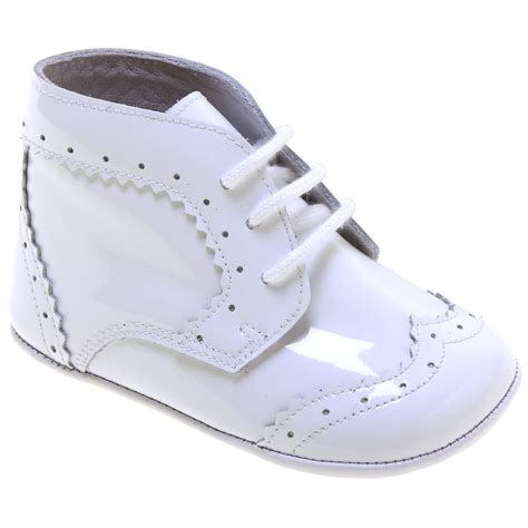 baby pram shoes baby boys white patent leather pram shoes lace up stunning
