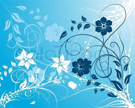 background design blue and white blue and white floral background ornate for design use