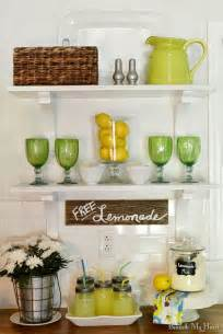 Kitchen Shelves Decorating Ideas Summer Open Shelves In My Kitchen Beneath My