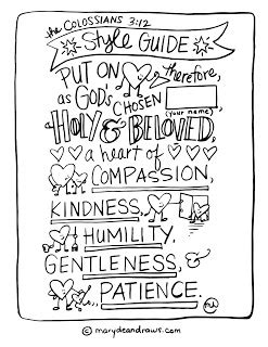 Colossians 3 Coloring Page by Practicing Kindness The Colossians 3 12 Style Guide