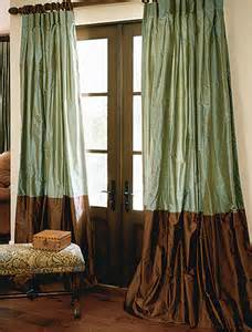 custom drapes made custom bordered silk drapes and blinds on