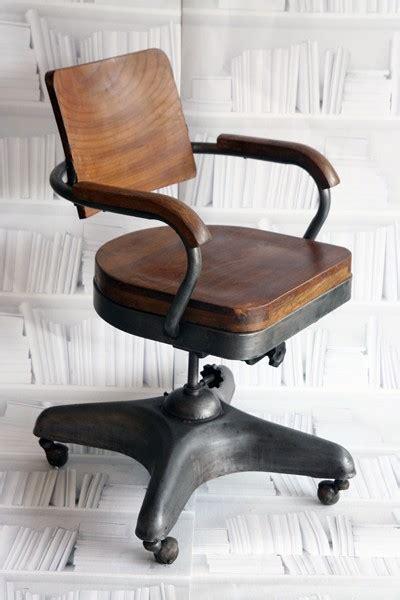 vintage industrial desk chair chaise vintage wodesign