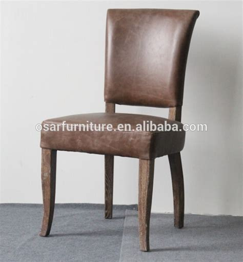 antique oak wood leather restaurant used dining chairs