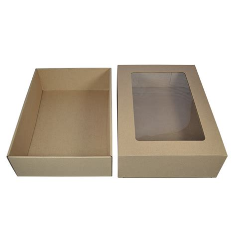 gift box with window kraft brown display window gourmet gift box small