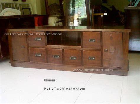 Bufet Tv Minimalis 3 Laci 2 M mebel furniture bufet tv pendek kayu jati minimalis jepara