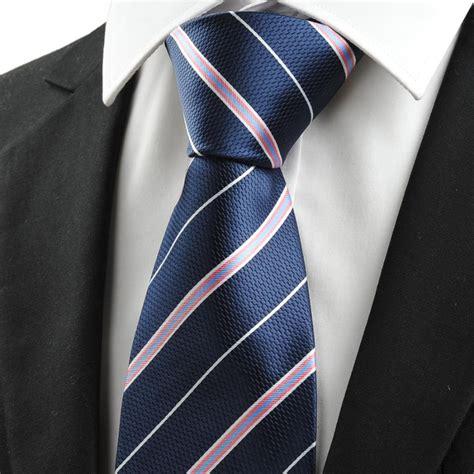 new checked grey navy dark blue jacquard men tie necktie