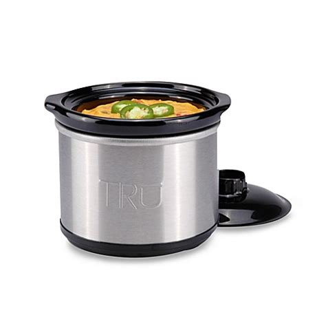 slow cooker bed bath and beyond tru 0 65 quart slow cooker bed bath beyond
