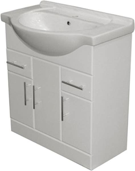 Flat Pack Bathroom Vanity Units by 850mm White Vanity Unit Ceramic Basin Fully Assembled