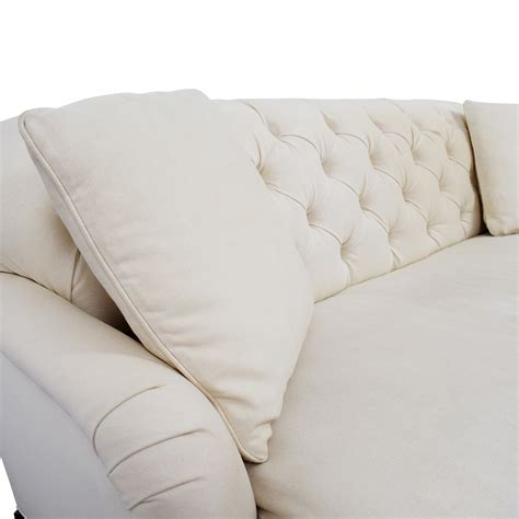 pottery barn tufted apartment sofa clara apartment sofa 90 pottery barn clara upholstered