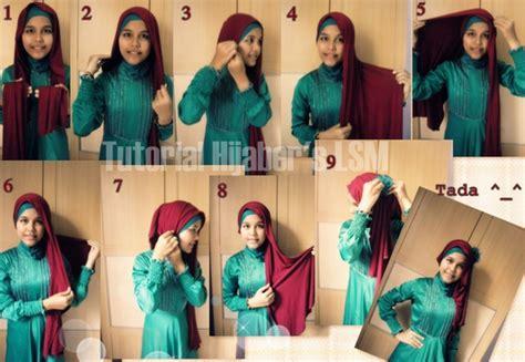 tutorial pashmina glitter rajut cara memakai jilbab pashmina casual rajut gaya 2016