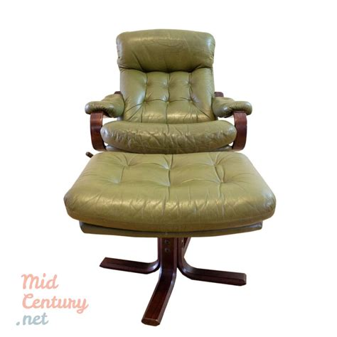 Lounge Chairs With Ottomans by Leather Lounge Chair With Ottoman Mid Century
