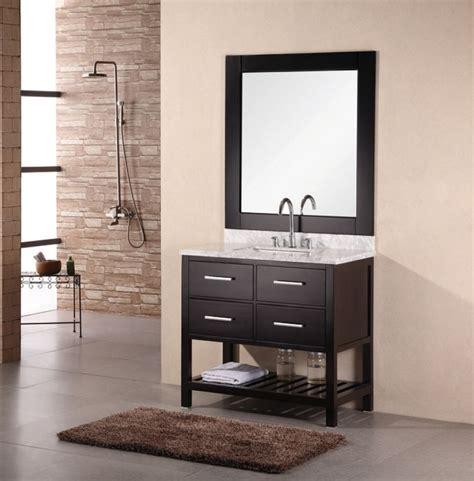 modern single sink bathroom vanity  carrera