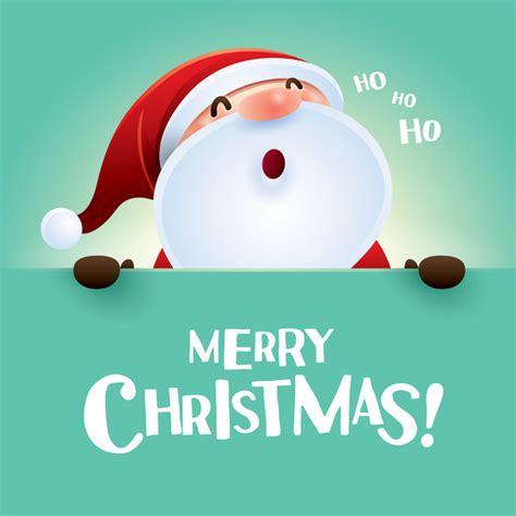 merry christmas postercard  santa cute vector vector christmas