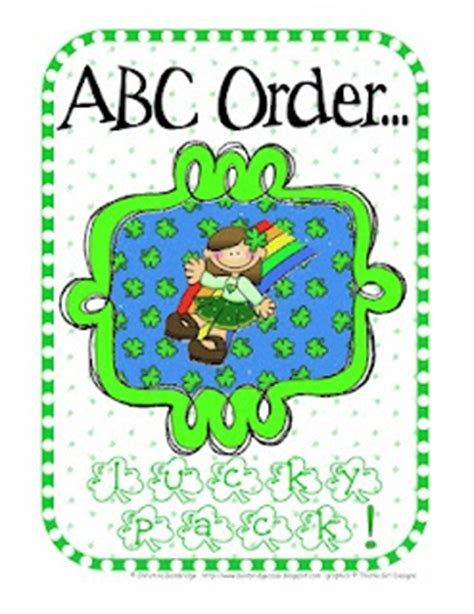 printable abc order games abc order free printable education st patricks