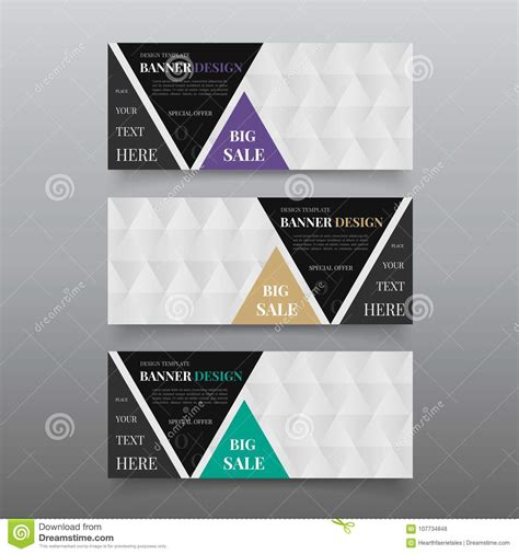 Triangle Banner Design Templates Web Banner Design Vector Website Banner Template With Text Z Banner Template