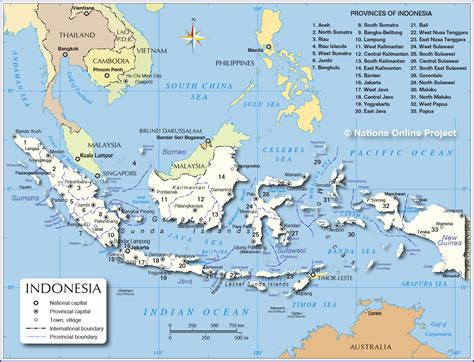 Indonesia On administrative map of indonesia nations project