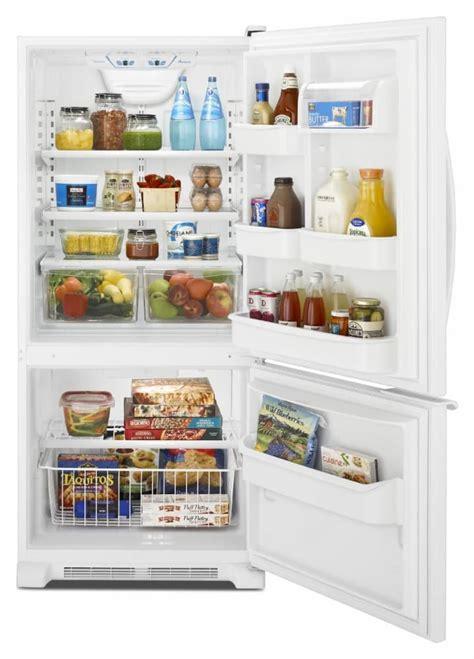 amana abbbrm  cu ft bottom freezer refrigerator