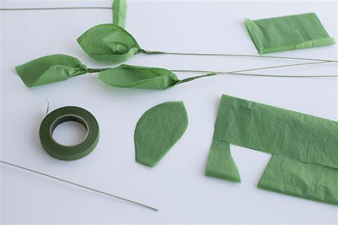 Make Paper Leaves - how to make tissue paper flowers crafts unleashed