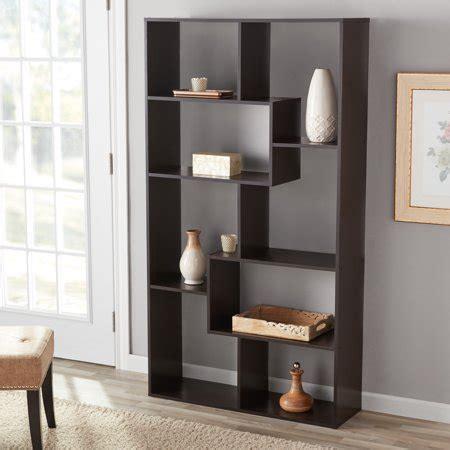 mainstays home 8 shelf bookcase espresso mainstays 8 cube bookcase white or espresso walmart com