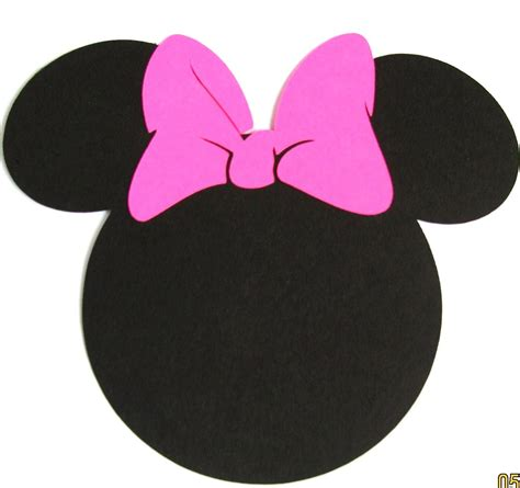 minnie mouse template 40 pack 5 minnie mouse ears with a pink by