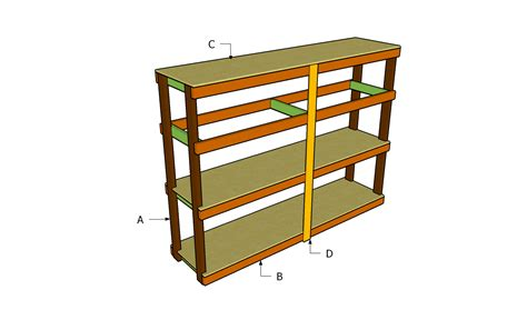 Storage Shelf Plans Free by Garage Shelving Plans Building Diy Garage Shelving Plans