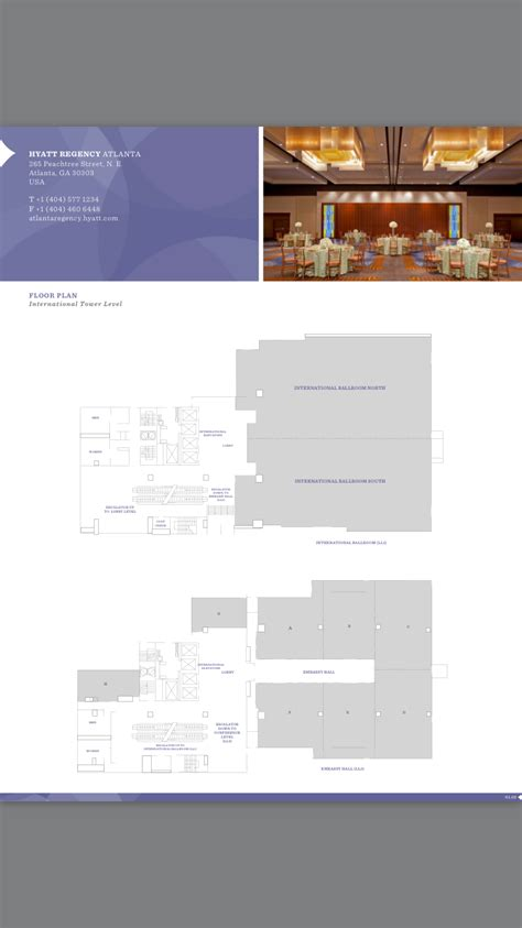 hyatt regency atlanta floor plan atlanta hyatt regency hotel floor plan international
