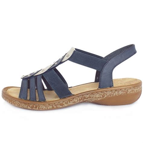 comfortable sandels reiker antistress costa rica women s comfortable denim blue sandals